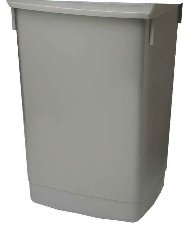 ADDIS 54L FLIP TOP BIN BASE METALLIC