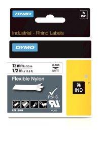DYMO Flexible Nylon Tape - Black on White