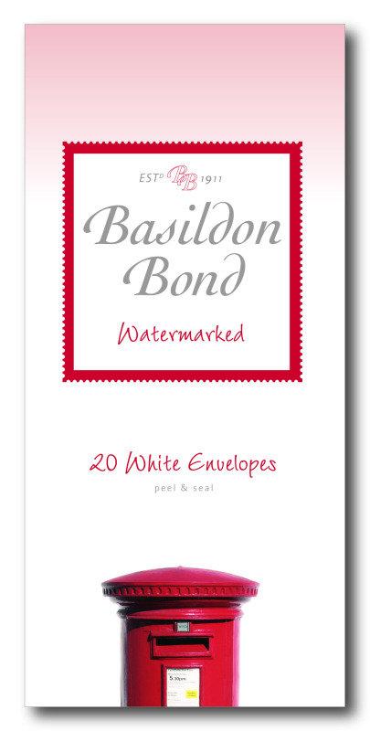 Basildon Bond Envelope Medium Wht Pk20 - 10 Pack