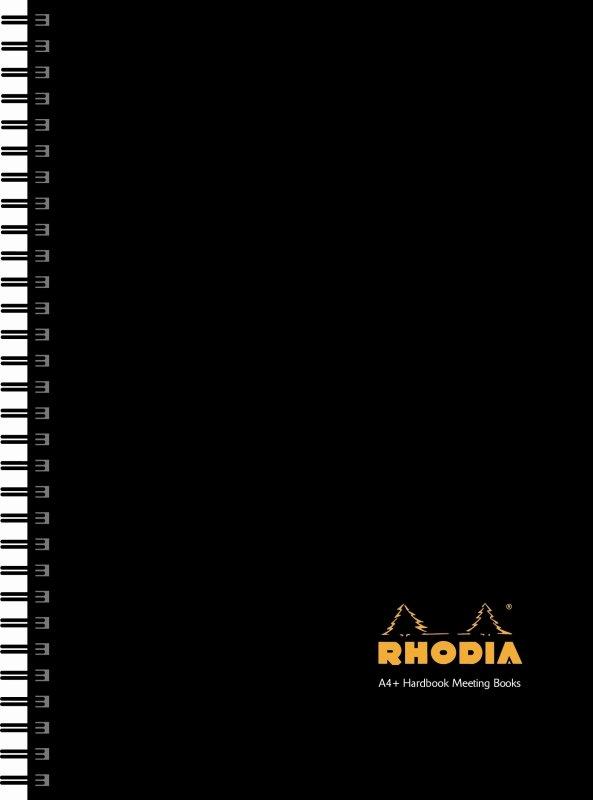 Rhodia Meeting Book A4plus Wirebound Hard Back Black - 3 Pack