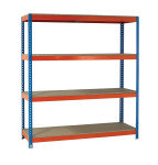 Fd Shelving Heavy Duty Painted Unit Orange/Zinc 379077