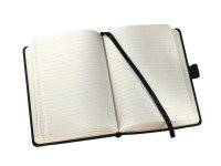 SIGEL NOTEBOOK LINED 148X213X20MM BLK