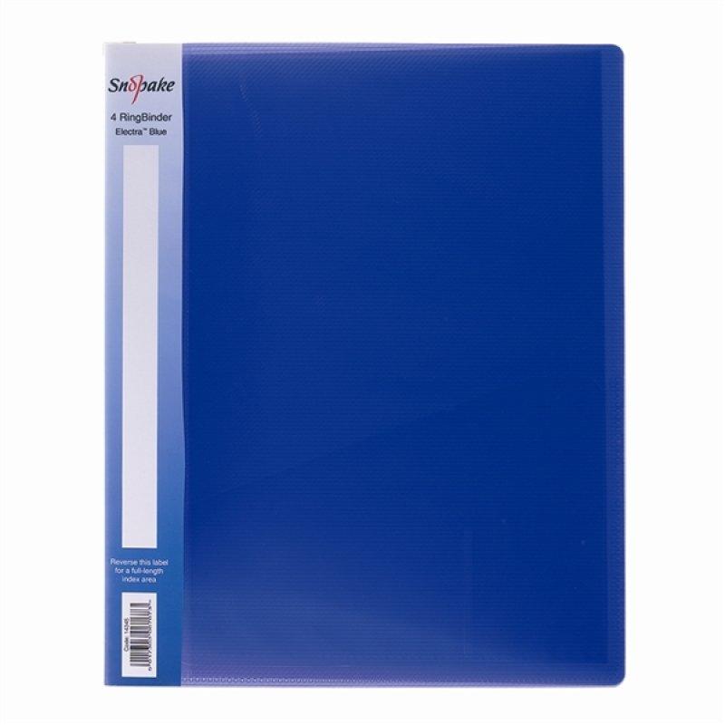 Snopake Poly Ring Bndr A4 25mm Blu 10180 - 10 Pack