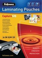 Fellowes A4 Capture Laminating Pouch 250 Micron (Pack of 100)