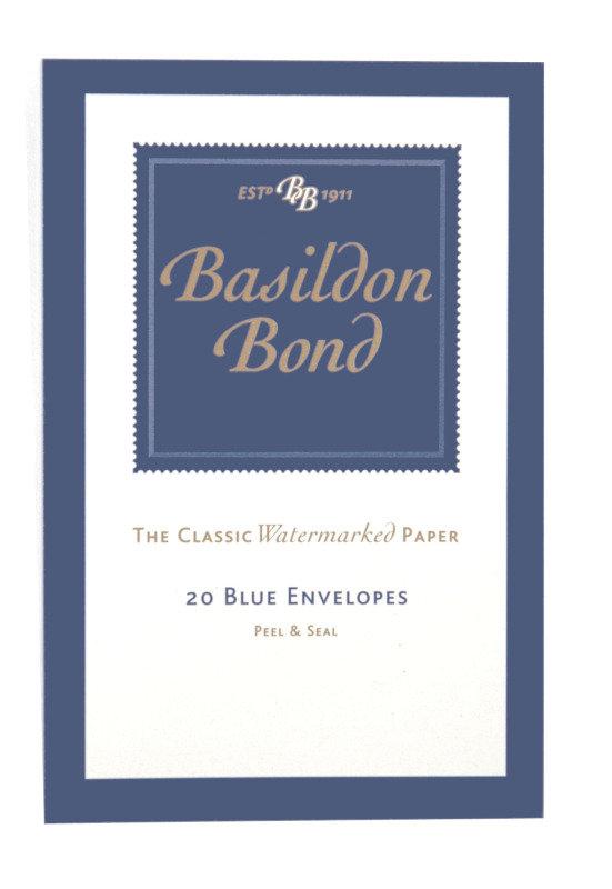 Basildon Bond Small Envelope Blue Pk20 - 10 Pack