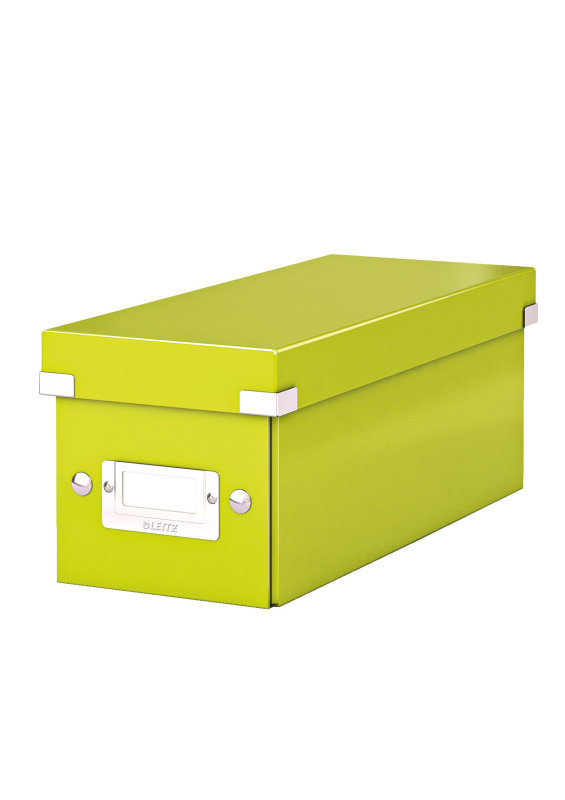 Leitz 60410064 WOW Click & Store Media Storage Box - Green