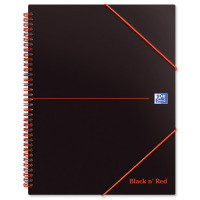 Black N Red A4 Wirebound Meeting Book - 5 Pack