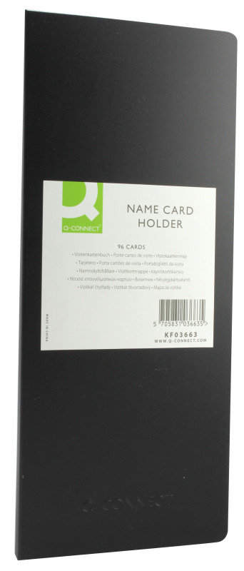Q CONNECT NAME CARD HOLDER 96 CARDS BLK