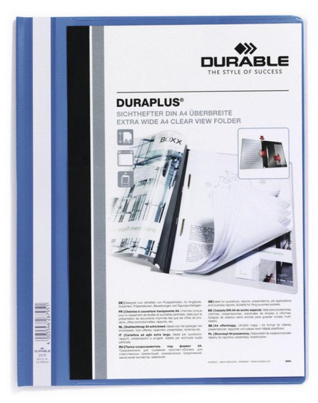 Durable DURAPLUS Quotation Folder A4 Blue 25 Pack