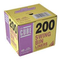 LE CUBE SWING BIN LINERS PK200