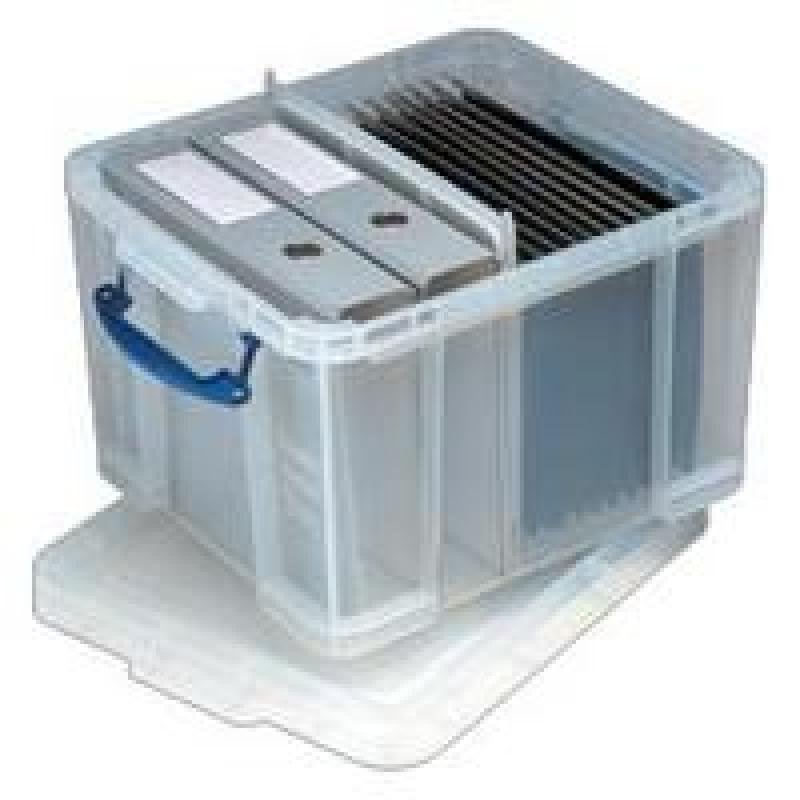 REALLY USEFUL 42 LITRE BOX AND LID CLR