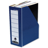 Fellowes Blue/White Bankers Box Premium Magazine File (Pack of 10)