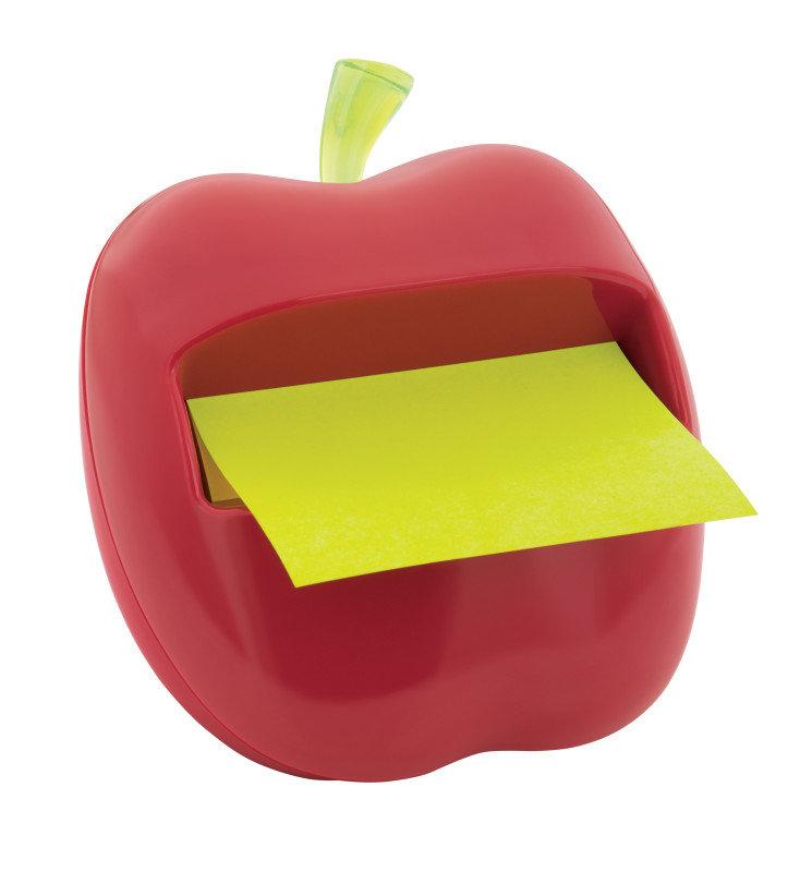 Image of 3m Post-it Novelty Dispenser Apple Red