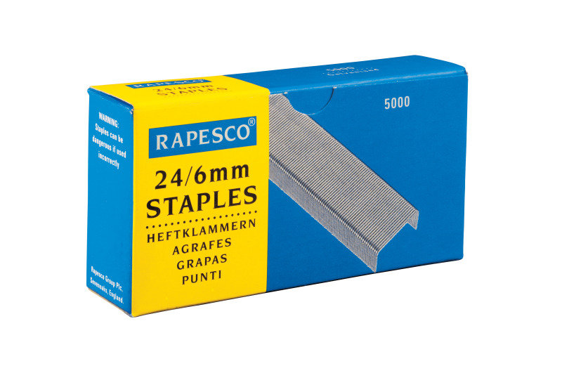 Rapesco 24/6mm Galvanised Staples
