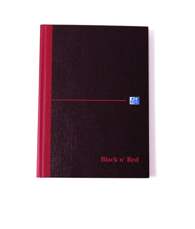 Blk N Red Manubk A5 Sngl Cash 100080414 - 5 Pack