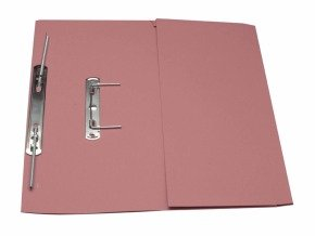*Guildhall Transfer Spring Pocket File Pink - 25 Pack