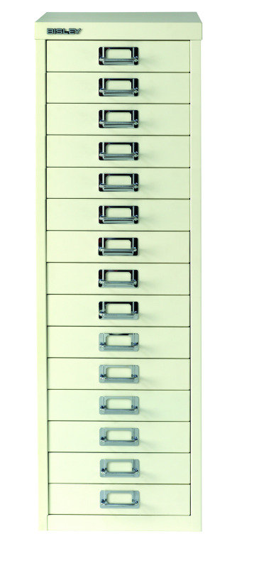 Bisley Multi-Drawer Cabinet A4 15 Drawer Chalk White