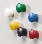 NOBO MAGNETIC DRAWING PINS TUB 12 ASST