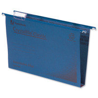 Rexel Crystalfile Classic Suspension File Complete 50mm Foolscap Blue (Pack of 50)