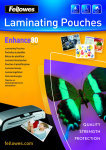 Fellowes Lamination pouches 25 x glossy A4
