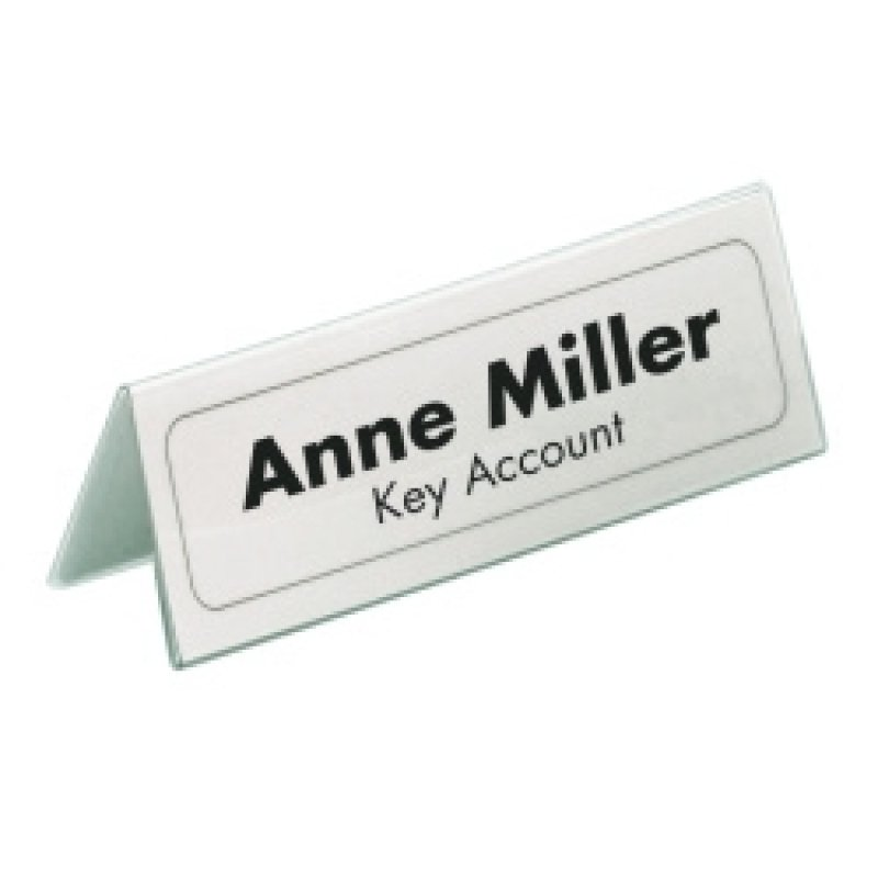 Durable Table Place Name Holders 63x150mm 25 Pack