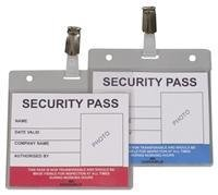 Durable Color Coded Security Pass 25 Pack