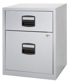 Bisley A4 Mobile Home Filer 2 Drawer Grey