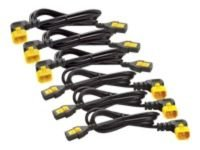 APC Power Cord Kit (6 ea), Locking, C13 to C14 (90 Degree), 1.2m