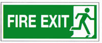 FIRE EXIT RIGHT 150X300MM S/A E98A/S