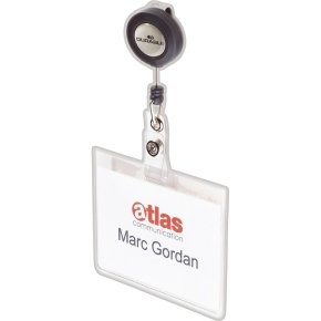 Durable Name Badge With Badge Reel 10 Pack