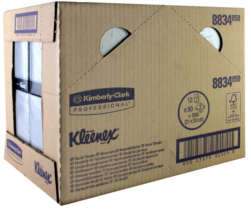 Image of Kleenex Ft Cube I-fold 2ply White 90shts - 12 Pack
