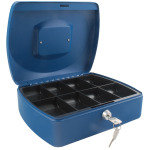 Q Connect 10 Inch Cash Box - Blue