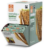 Cafe Direct Everyday Tag Enveloped Tea Bag - 300 Tabletop Dispenser Pack