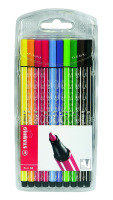 STABILO 68 FIBRE TIP PEN ASSORTED PK10