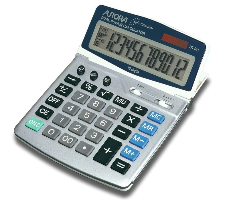 Image of Aurora DT401 Euro Calculator