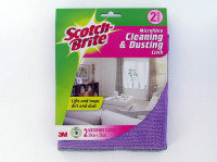 3M Scotch-Brite Cleaning and Dusting Cloths (Pack of 2)