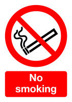Extra Value Self Adhesive A5 Safety Sign - No Smoking