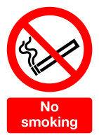 Extra Value Self Adhesive A5 Safety Sign - No Smoking