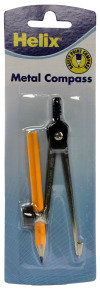 Helix Metal Compass And Pencil - 10 Pack