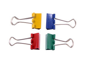 Q-Connect 19mm Assorted Colours Foldback Clips - 10 Pack