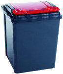 VFM Recycling Bin With Lid Red 50L