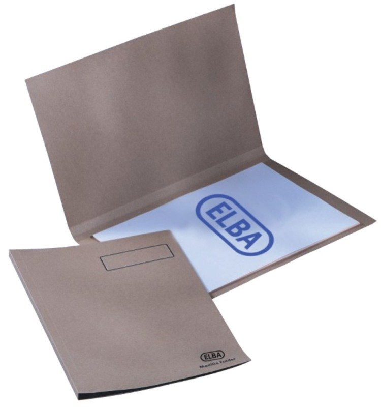 Elba Sqcut Fldr Lwt A4 Buff 100090117 - 100 Pack