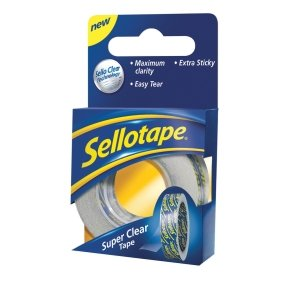 Sellotape Super Clear 18mmx25m 1443351 - 8 Pack