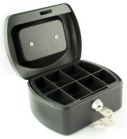 Q Connect 6 Inch Cash Box - Black