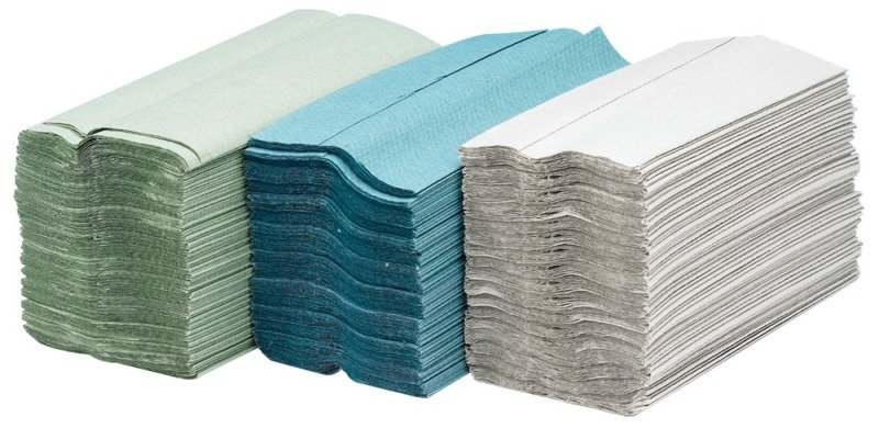 Image of Maxima Green C-Fold Hand Towel 2 Ply White Pack of 24 x 100 Sheets