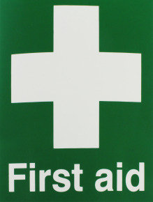 Extra Value Self-Adhesive First Aid Sign - 150x110mm