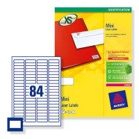 AVERYL MINI LABELS+ 84TV WHITE
