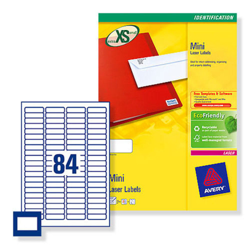 Image of AVERYL MINI LABELS+ 84TV WHITE