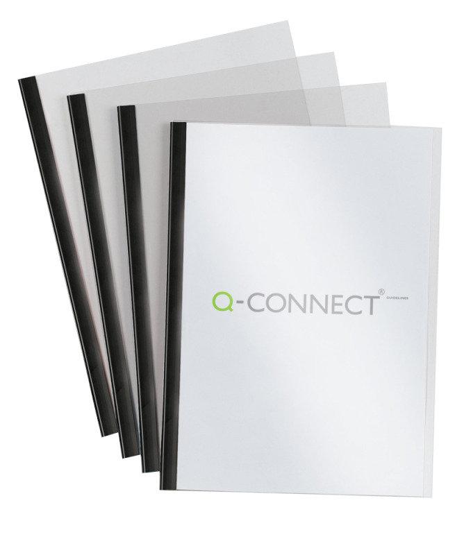 Q Connect Black Slide Binder & Cover Sets - 20 Pack