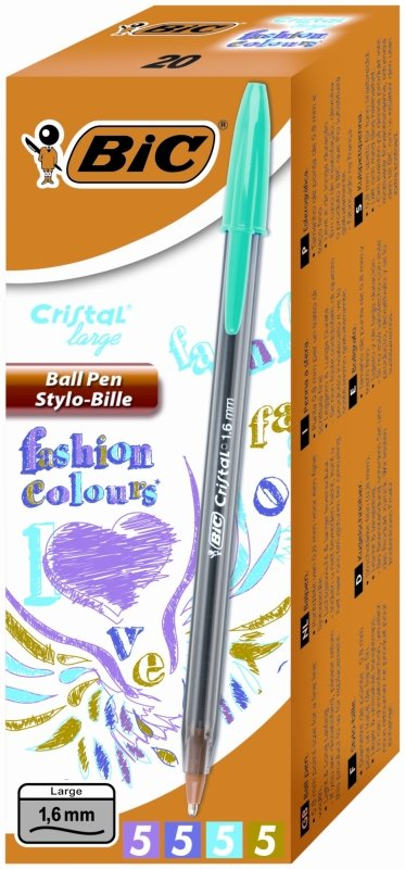 Bic Cristal Large Ball Pen Assorted 20 Pack